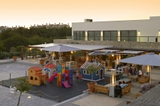 Martinhal Sagres Village Square Play area outside Os Gambozinos and M Bar